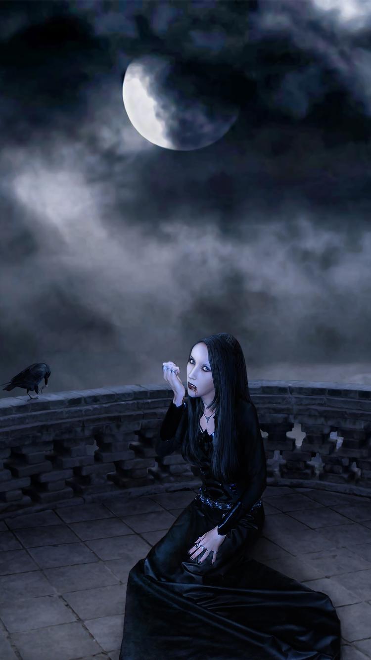 raven wallpaper abyss