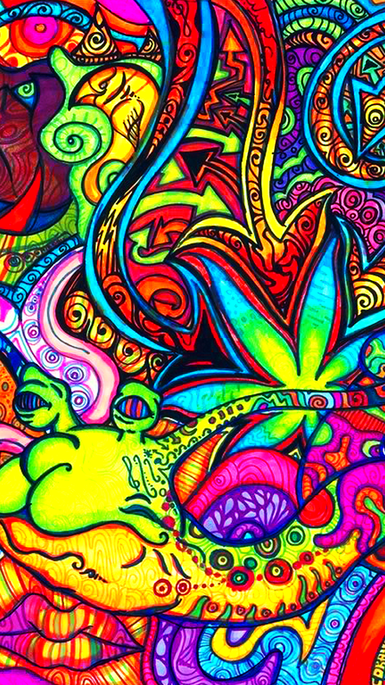 Wallpaper iphone psychedelic - Wallpaper 649608