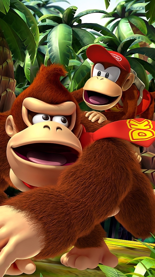 Video Game Donkey Kong Country Returns 540x960 Wallpaper Id