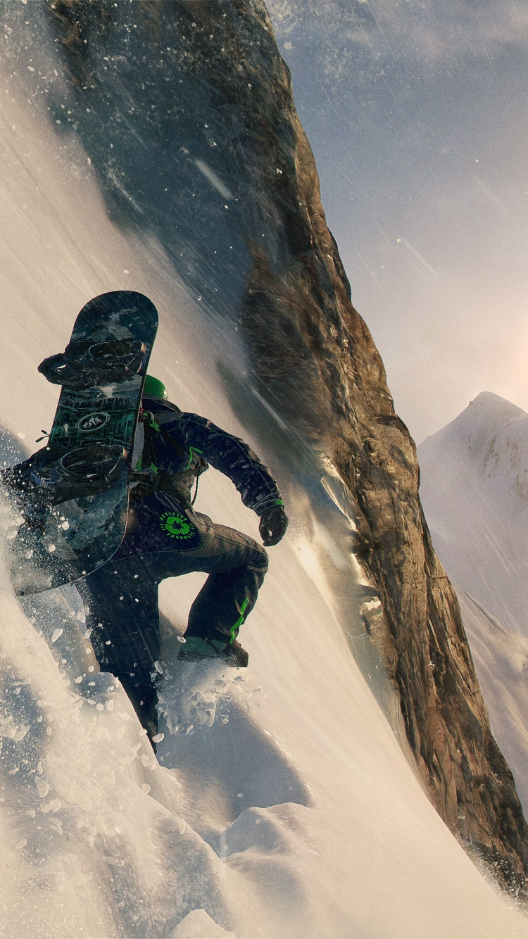 Wingsuit Flying Steep Game Wallpaper