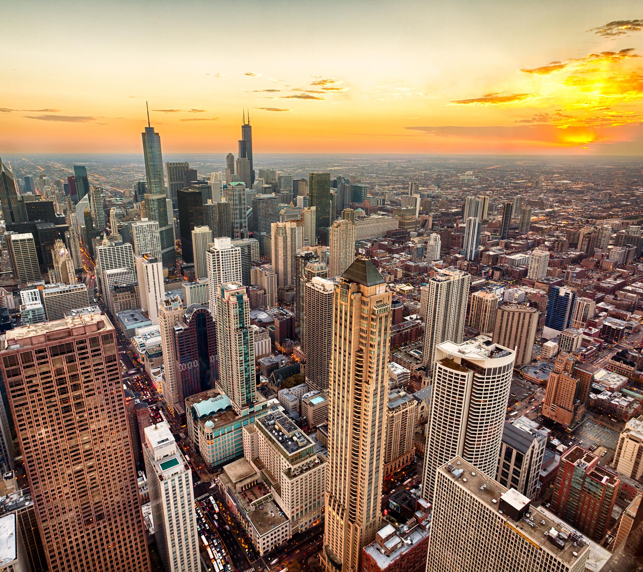небоскребы закат город skyscrapers sunset the city  № 683726  скачать