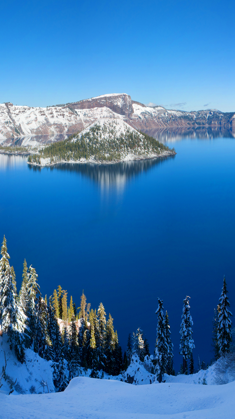 earth/crater lake (750x1334) wallpaper id: 658786 - mobile abyss