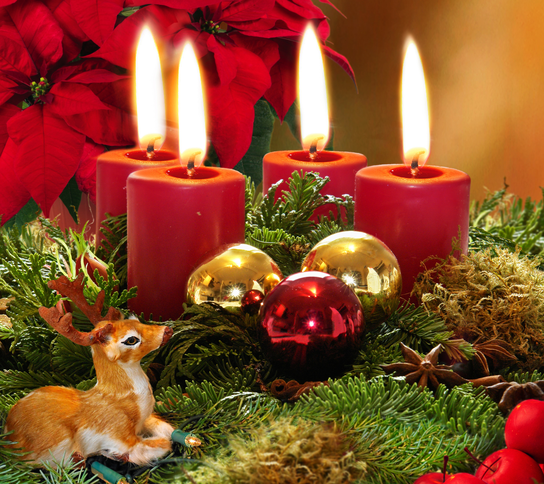 рождество новый год свечи  № 3334046 загрузить