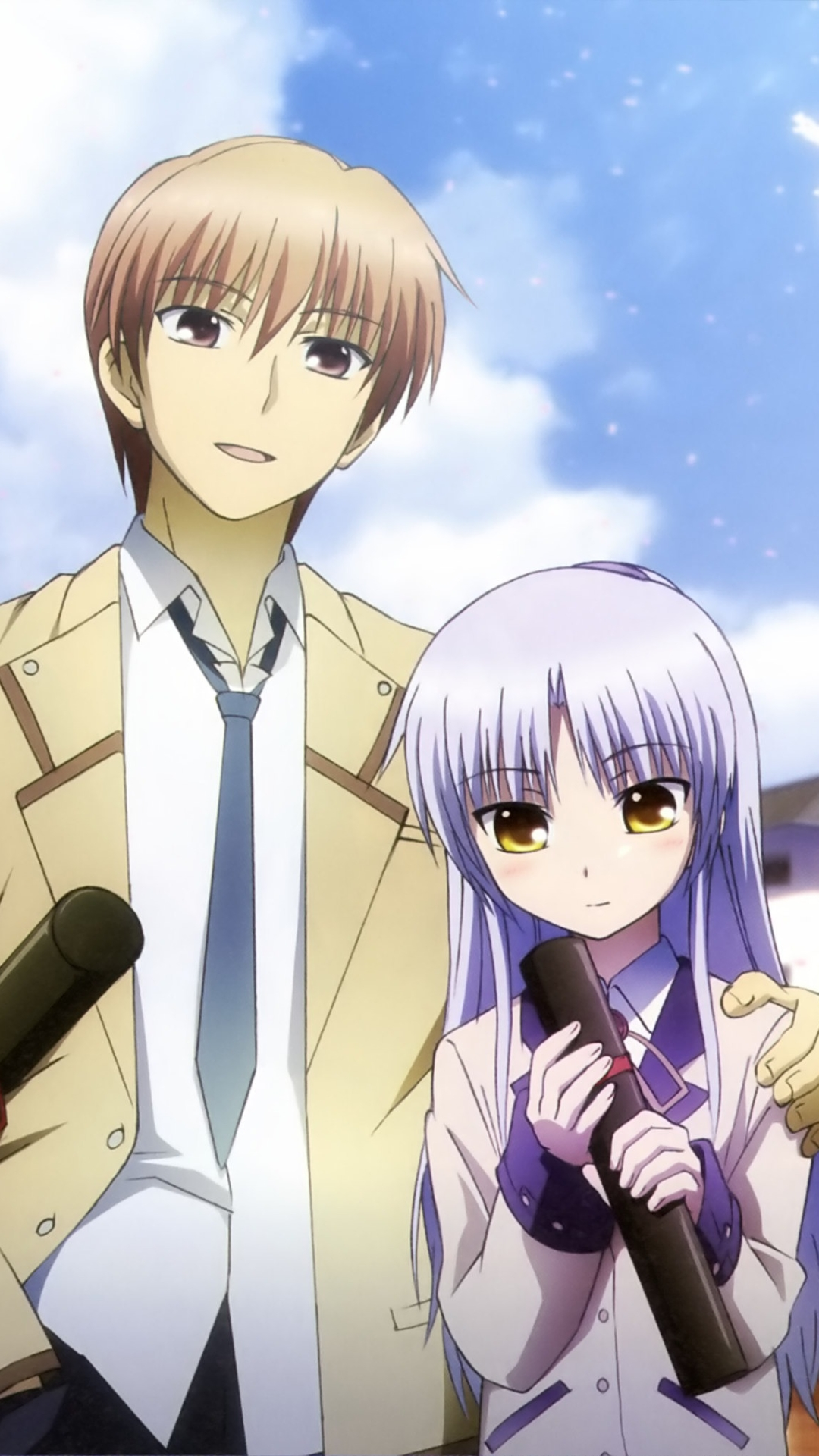 angel beats otonashi and kanade wallpaper wwwpixshark