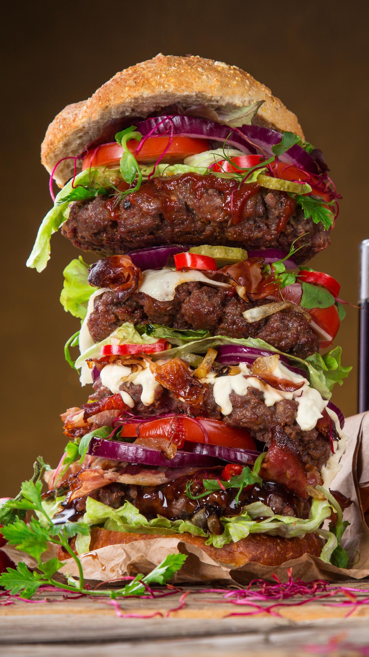 Download Wallpaper 640x1136 Cheeseburger, Burger, Cheese, Bun ...