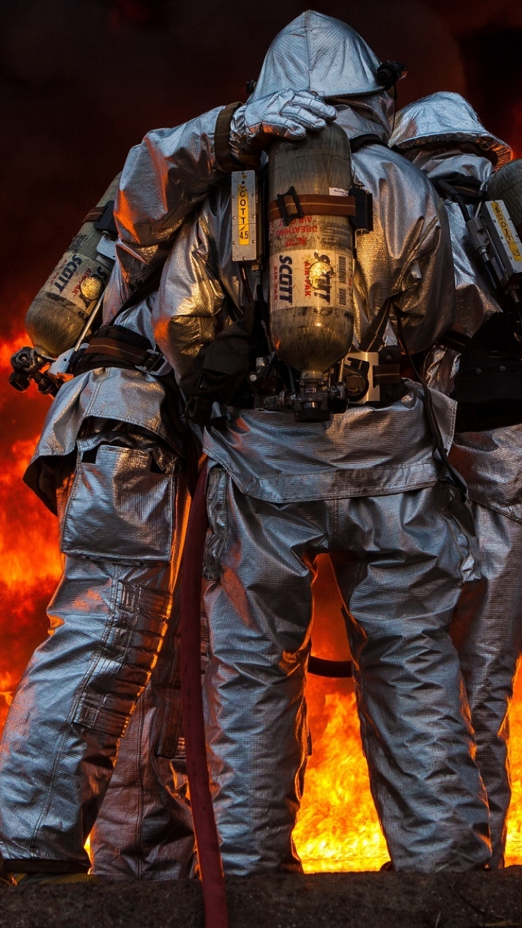 Men Firefighter 750x1334 Wallpaper ID 666741