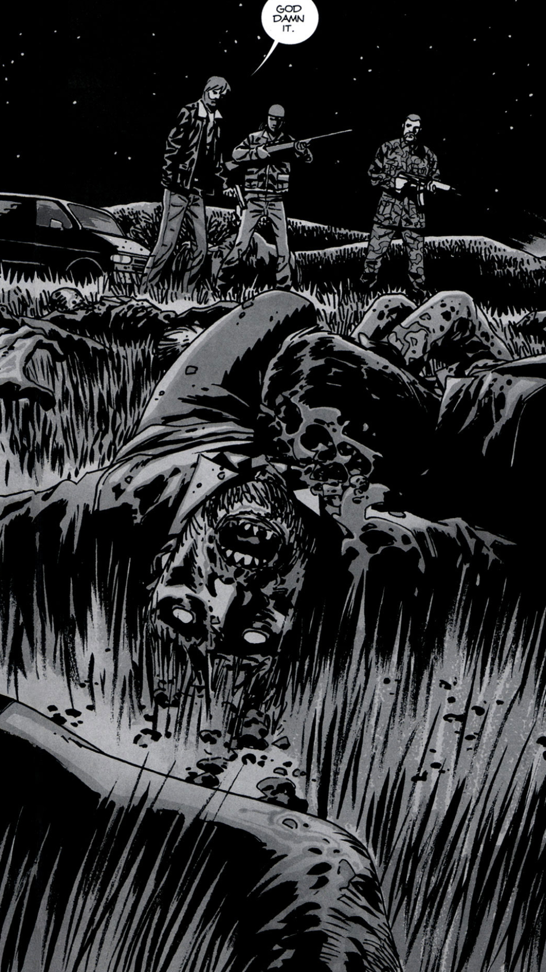 comics/the walking dead (1080x1920) wallpaper id: 672115 - mobile abyss