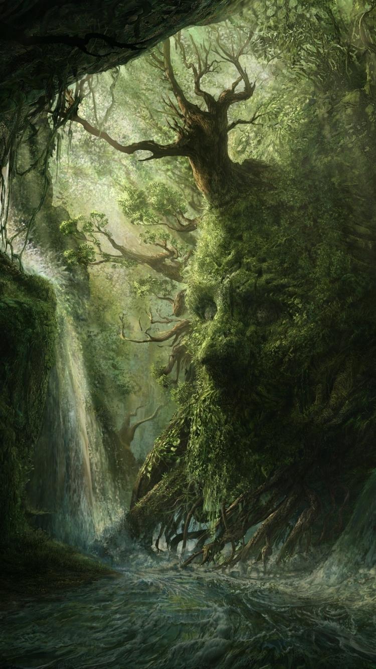iPhone  FantasyForest Wallpaper ID