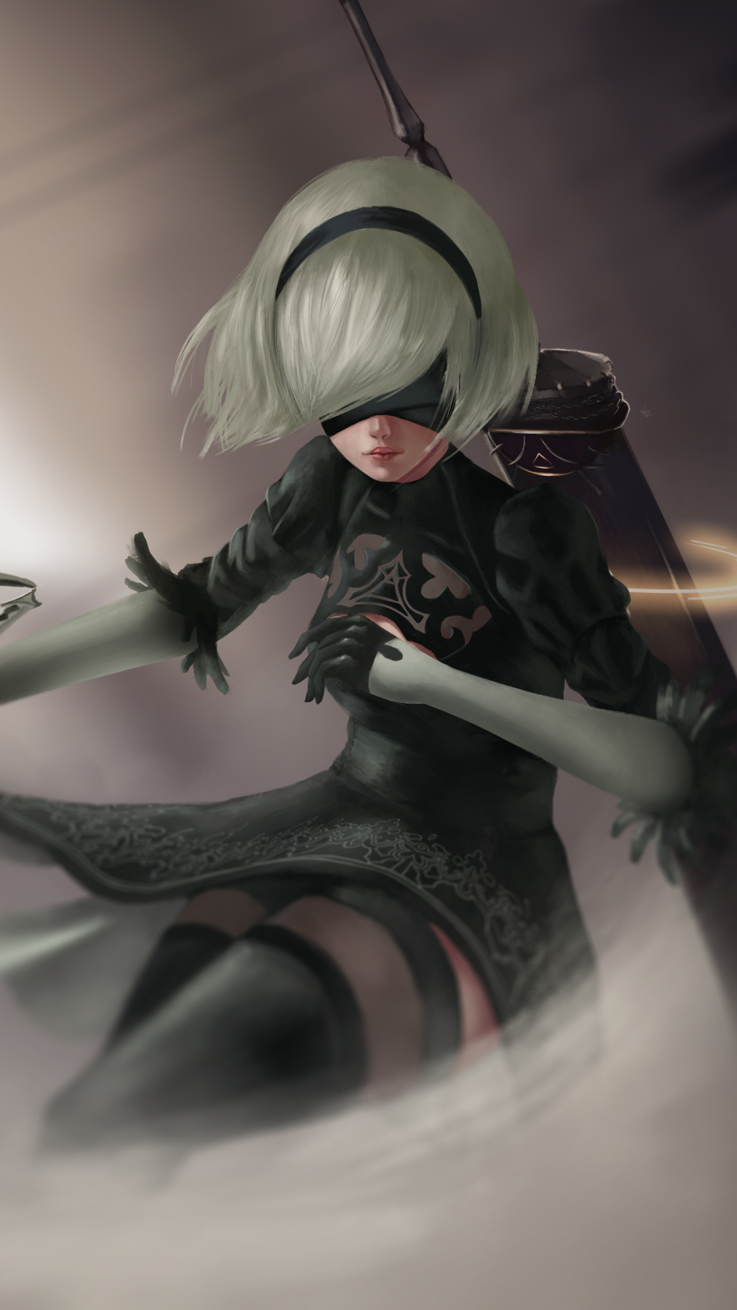 Video Game Nier Automata 1440x2560 Wallpaper Id 673000