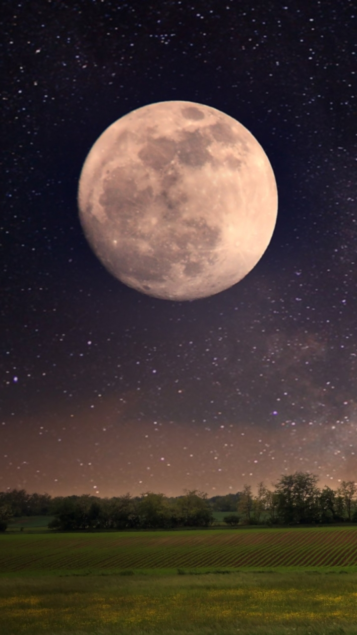 Earth Moon 720x1280 Mobile Wallpaper