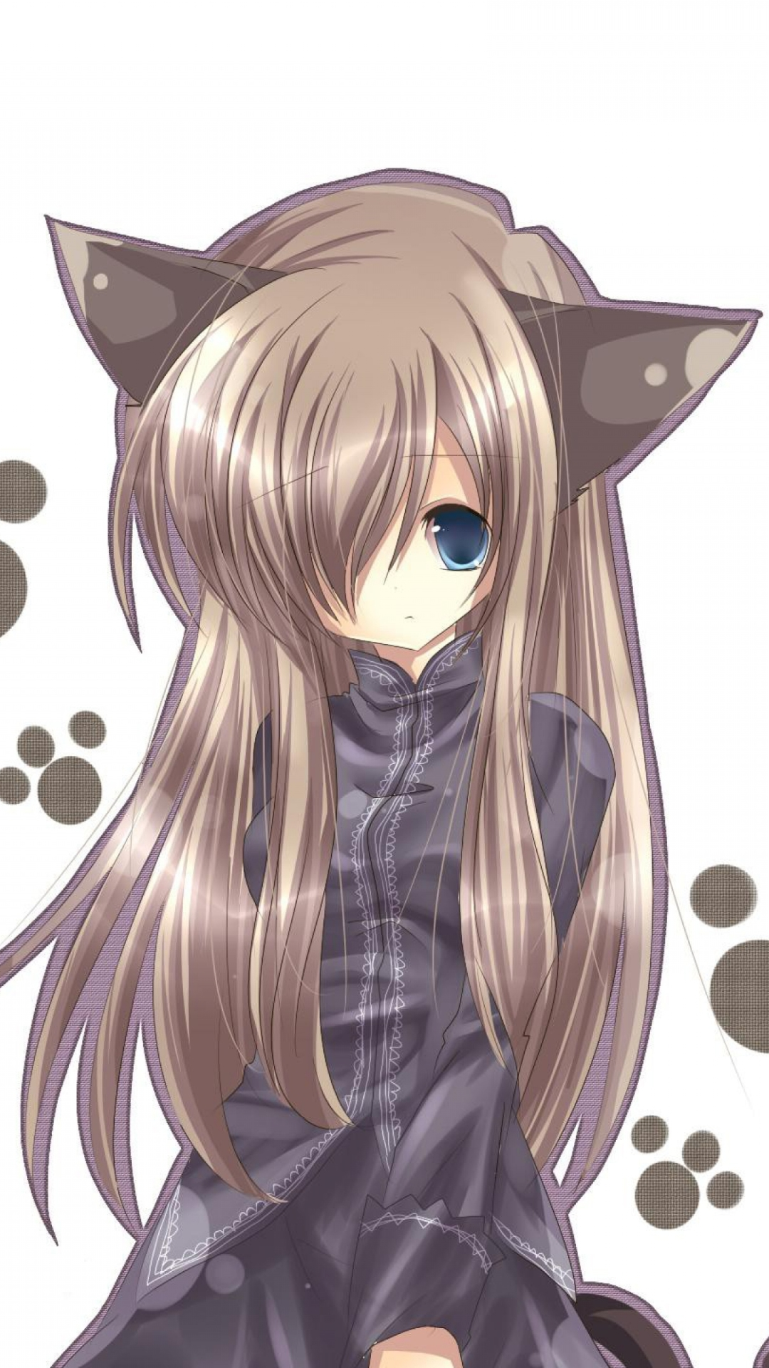 Neko Girl With Brown Hair