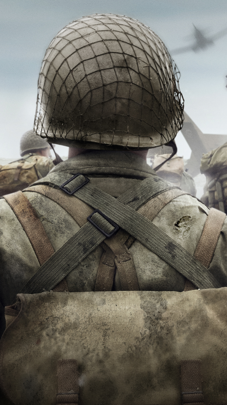6 call of duty: wwii apple/iphone 5 (640x1136) wallpapers - mobile abyss