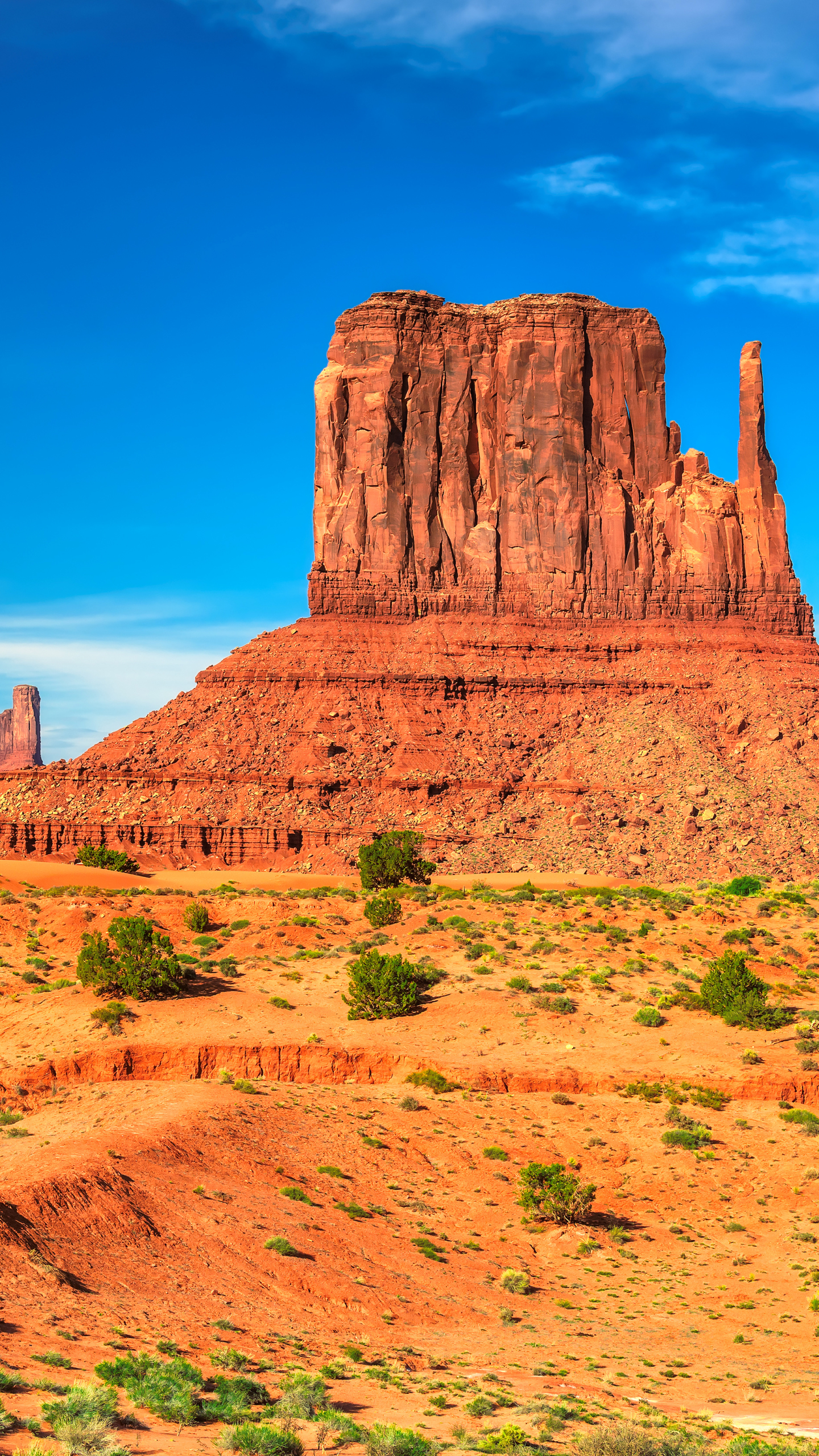 Earth Monument Valley 1440x2560 Mobile Wallpaper