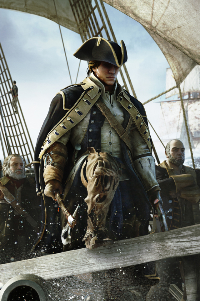 Video Game Assassin S Creed Iii 640x960 Wallpaper Id 679549