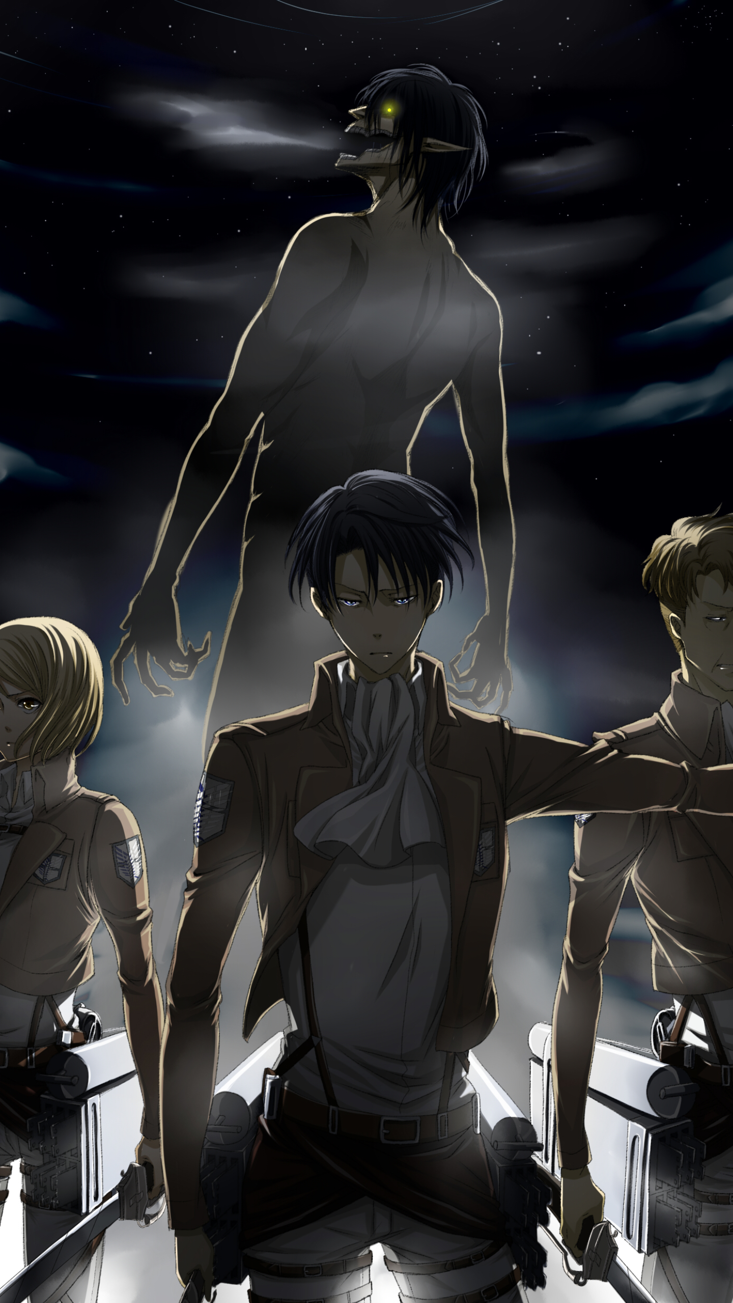 Anime Attack On Titan 1440x2560 Wallpaper Id 680885 Mobile Abyss