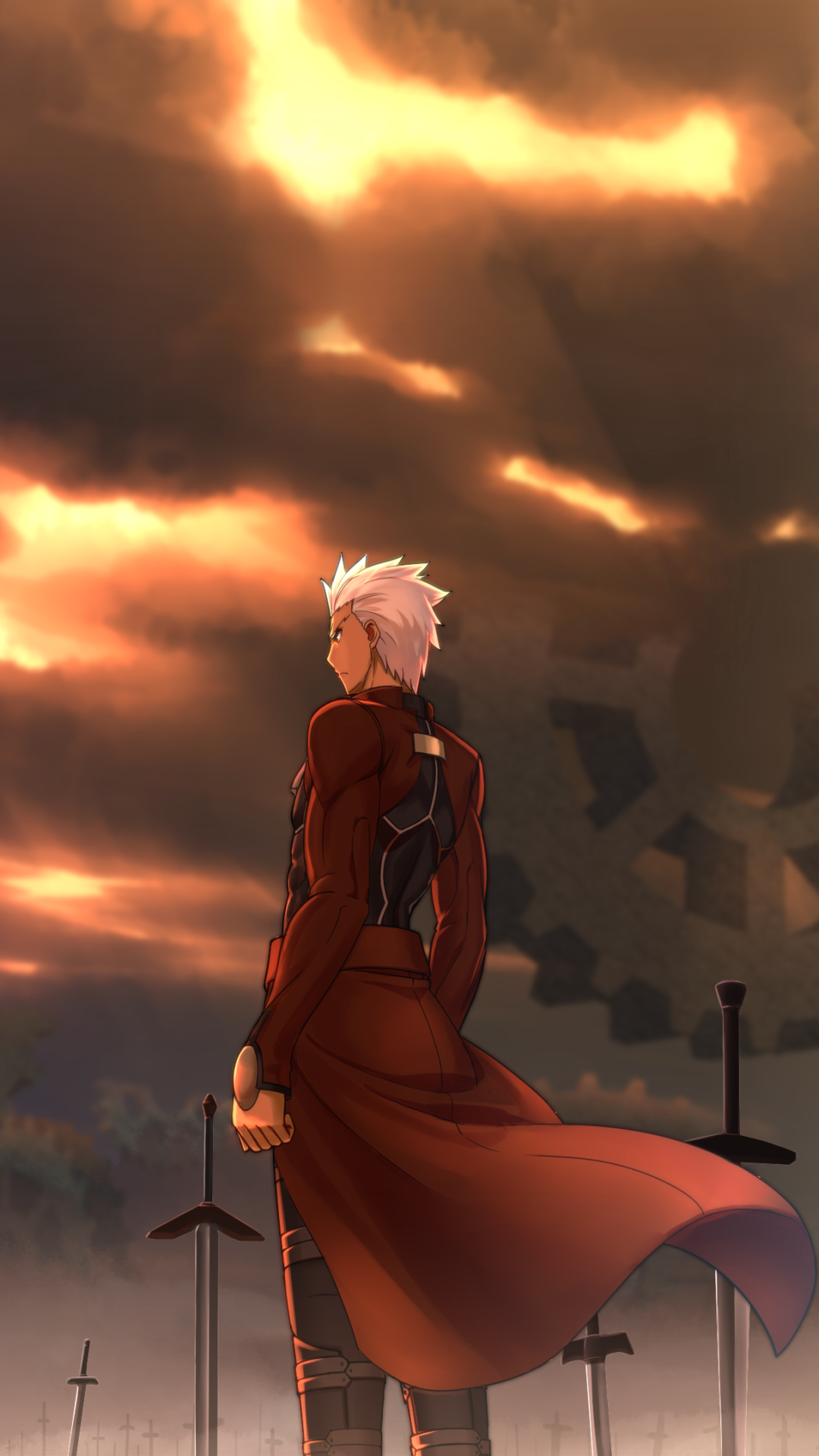 Anime fate stay night unlimited blade works 1080x1920 wallpaper id 681257 mobile abyss - Fate stay night wallpaper ...
