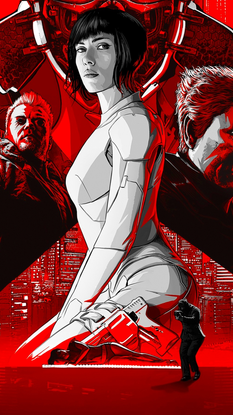 Movie Ghost In The Shell 2017 720x1280 Wallpaper Id 682331