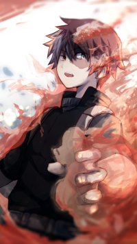 49 Shouto Todoroki Apple Iphone 5 640x1136 Wallpapers