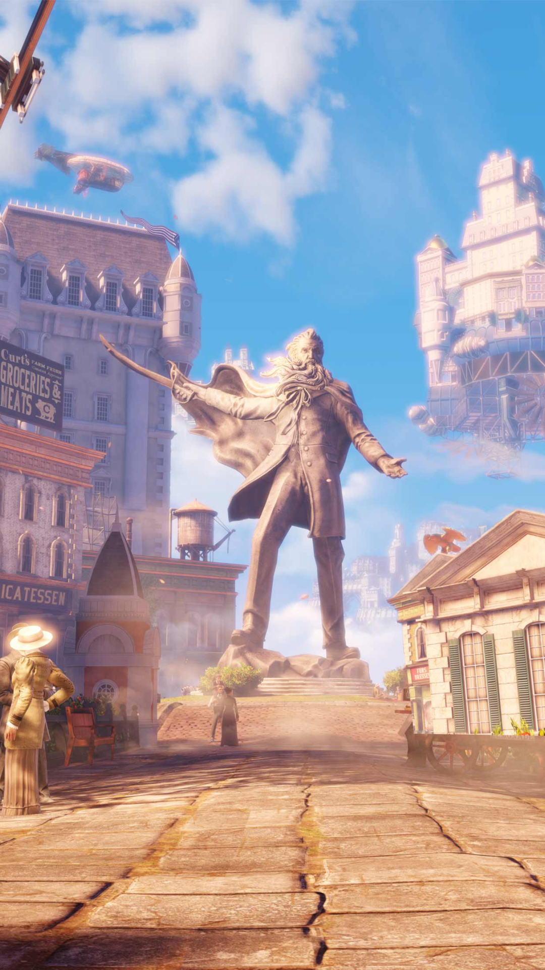 Video Game Bioshock Infinite 1080x1920 Mobile Wallpaper