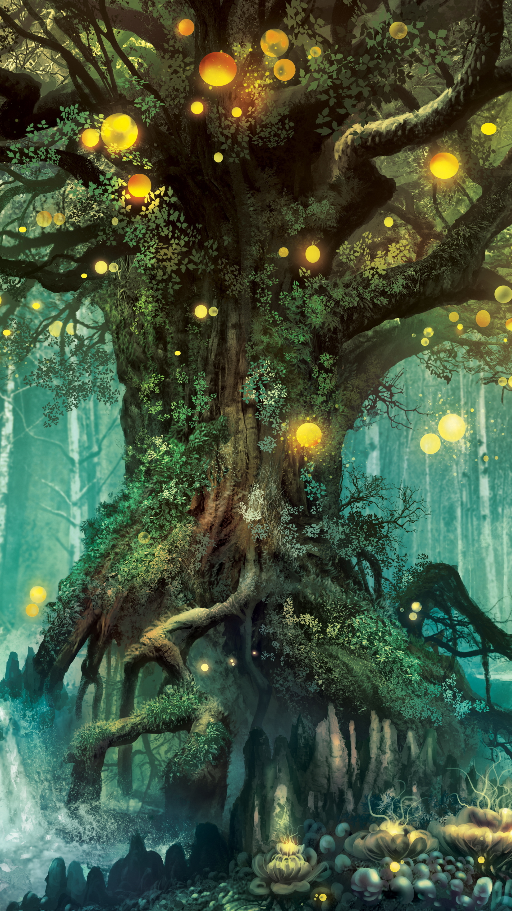 Fantasy Forest 1080x1920 Wallpaper Id 696788 Mobile Abyss