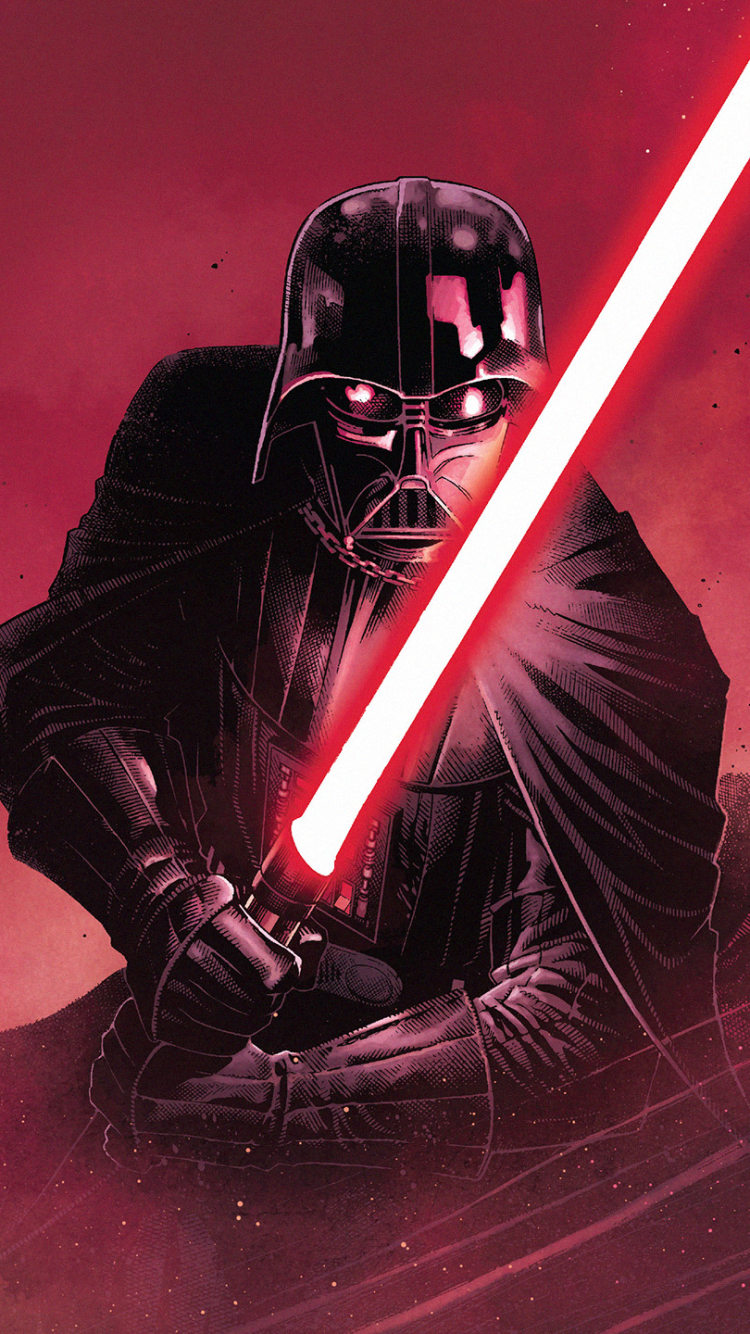 Comics Star Wars Darth Vader 750x1334 Wallpaper Id