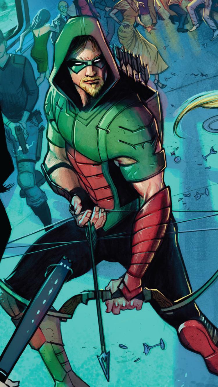 Comics Green Arrow 750x1334 Mobile Wallpaper