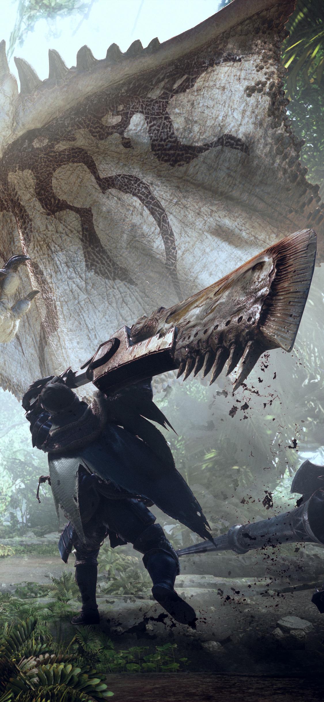 Video Game Monster Hunter World 1125x2436 Wallpaper Id 705857