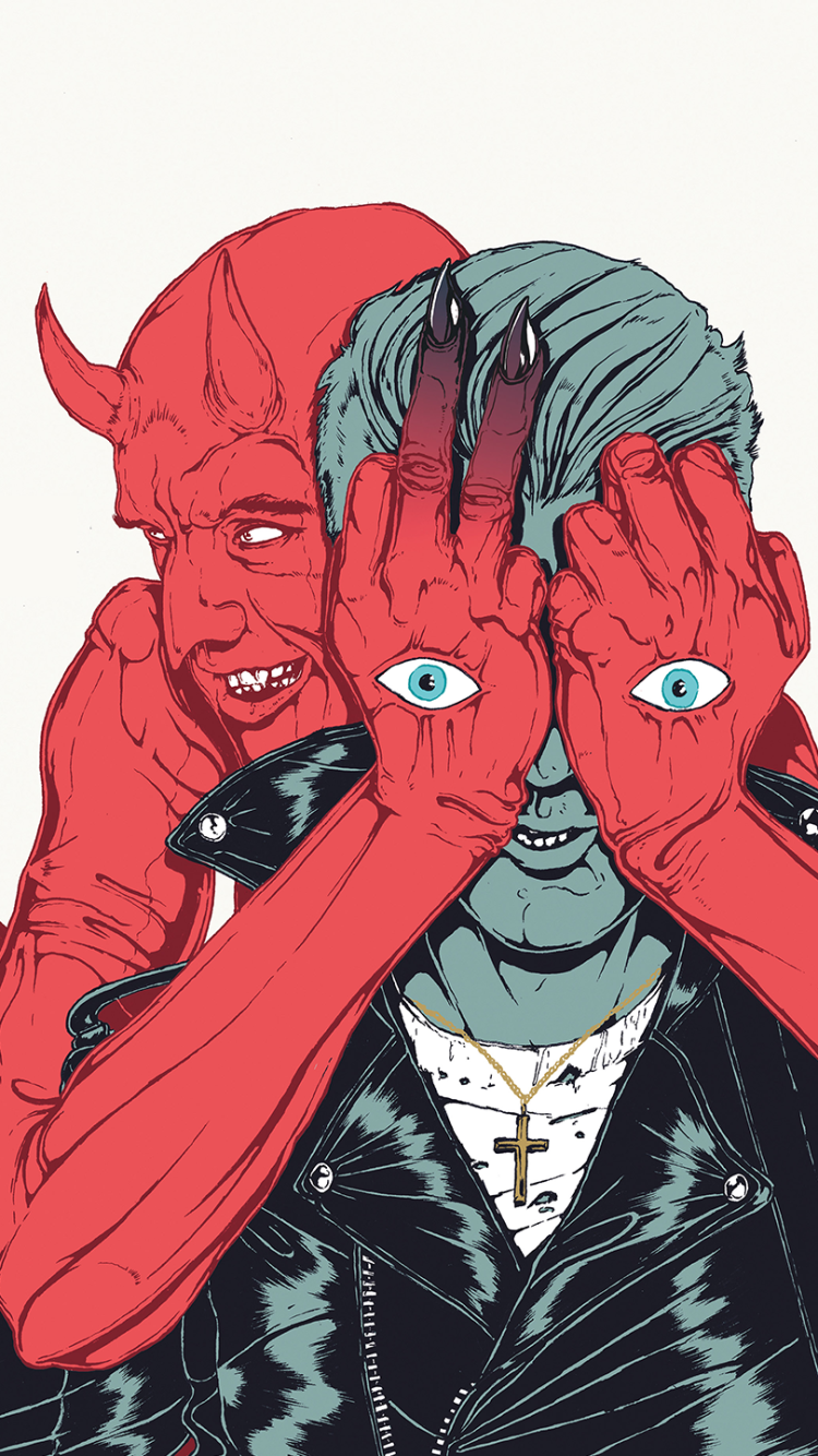 Music Queens Of The Stone Age 750x1334 Mobile Wallpaper