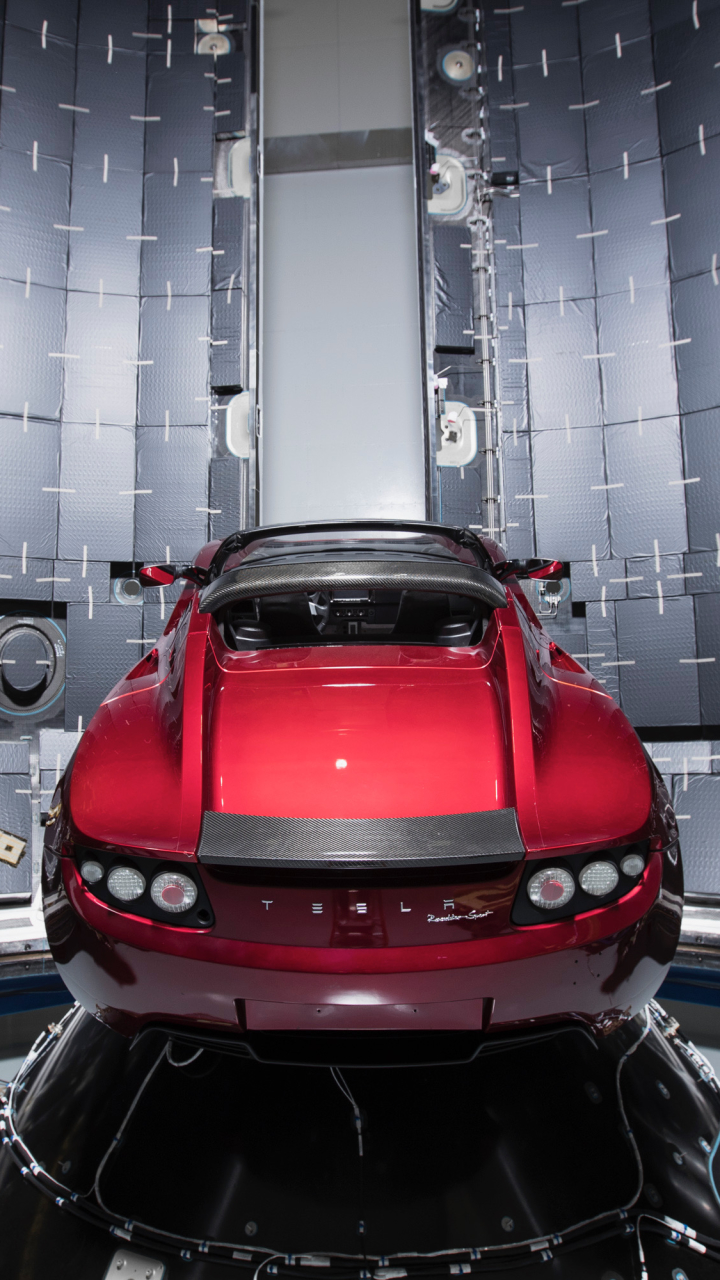 Vehicles Tesla Roadster 720x1280 Wallpaper Id 710763