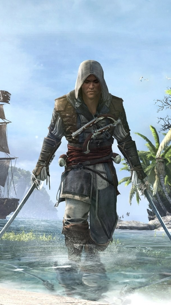 Video Game Assassin S Creed Iv Black Flag 720x1280 Wallpaper Id