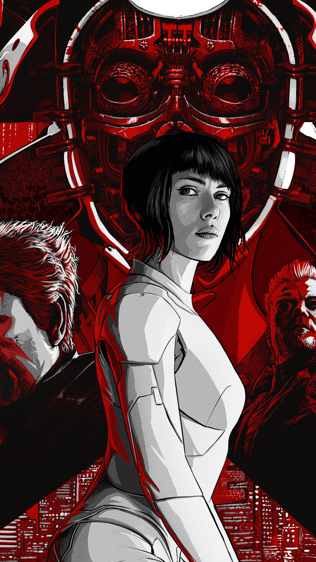 Movie Ghost In The Shell 2017 1080x1920 Wallpaper Id 715267