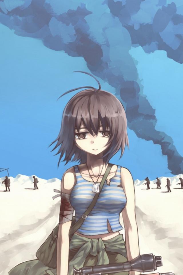 Animegirl 640x960 Wallpaper Id 717356 Mobile Abyss
