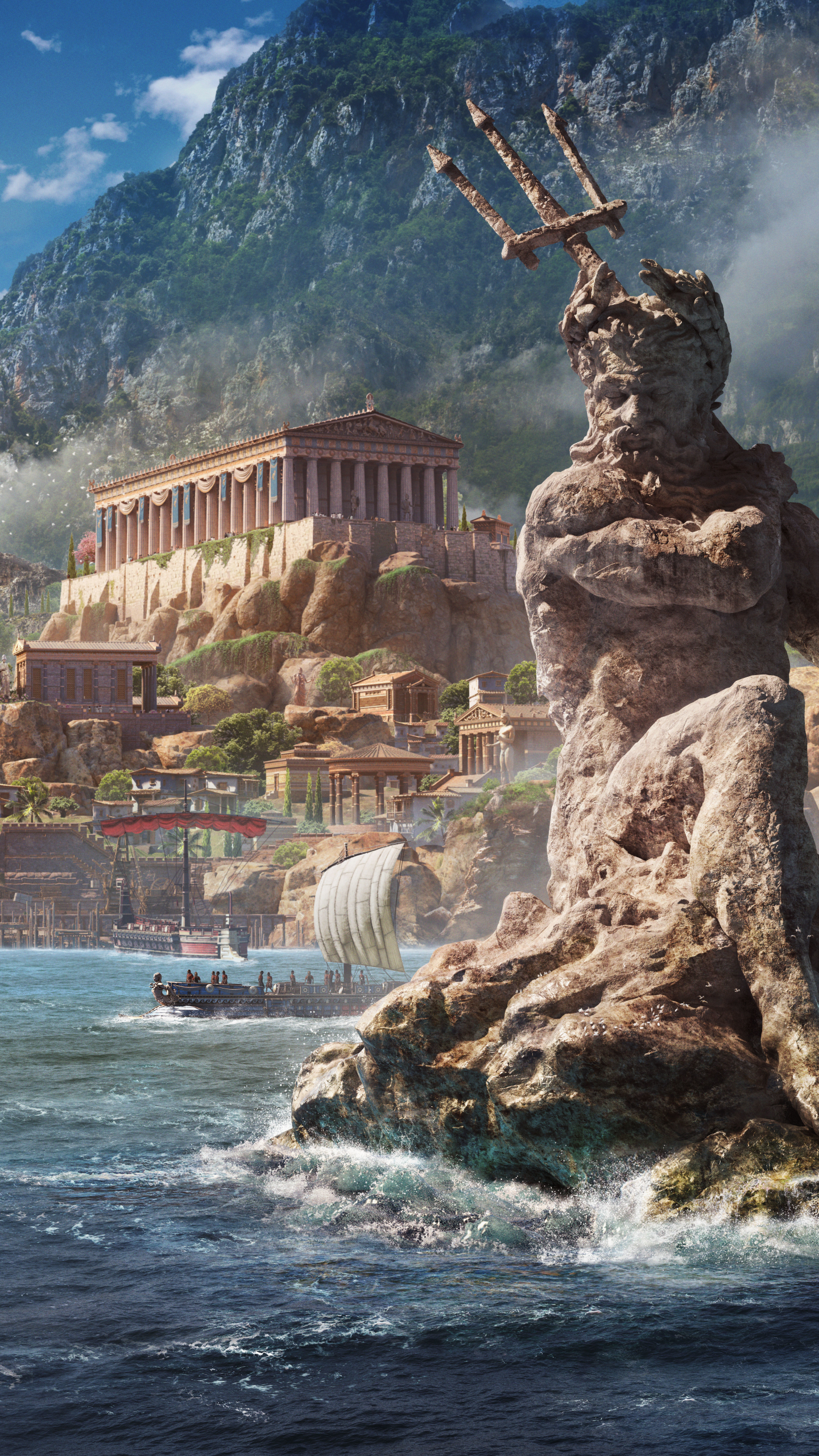 Video Game Assassin S Creed Odyssey 1440x2560 Wallpaper Id