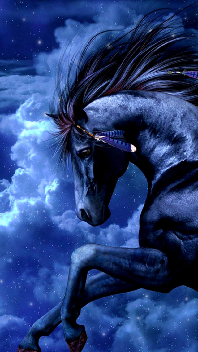 Fantasy Horse 640x1136 Wallpaper Id 741351 Mobile Abyss