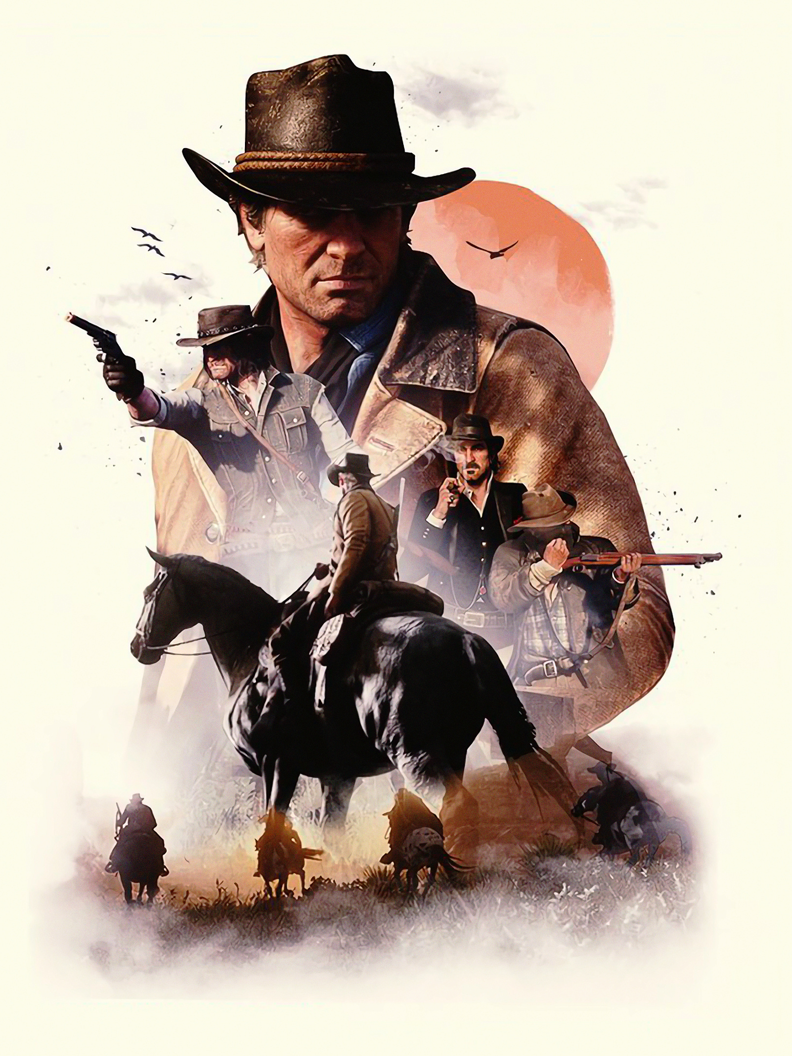Video Game Red Dead Redemption 2 1536x2048 Wallpaper Id 765828