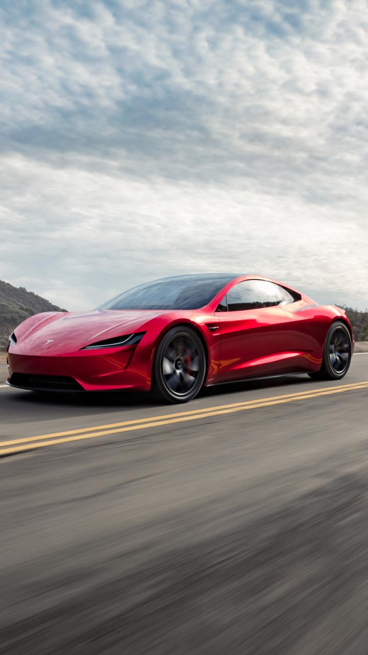Vehicles Tesla Roadster 750x1334 Wallpaper Id 771528