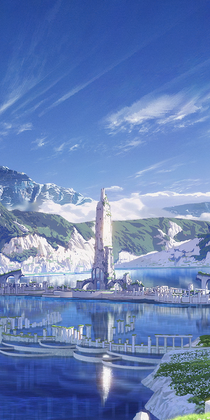 Anime Maquia When The Promised Flower Blooms 720x1440 Wallpaper