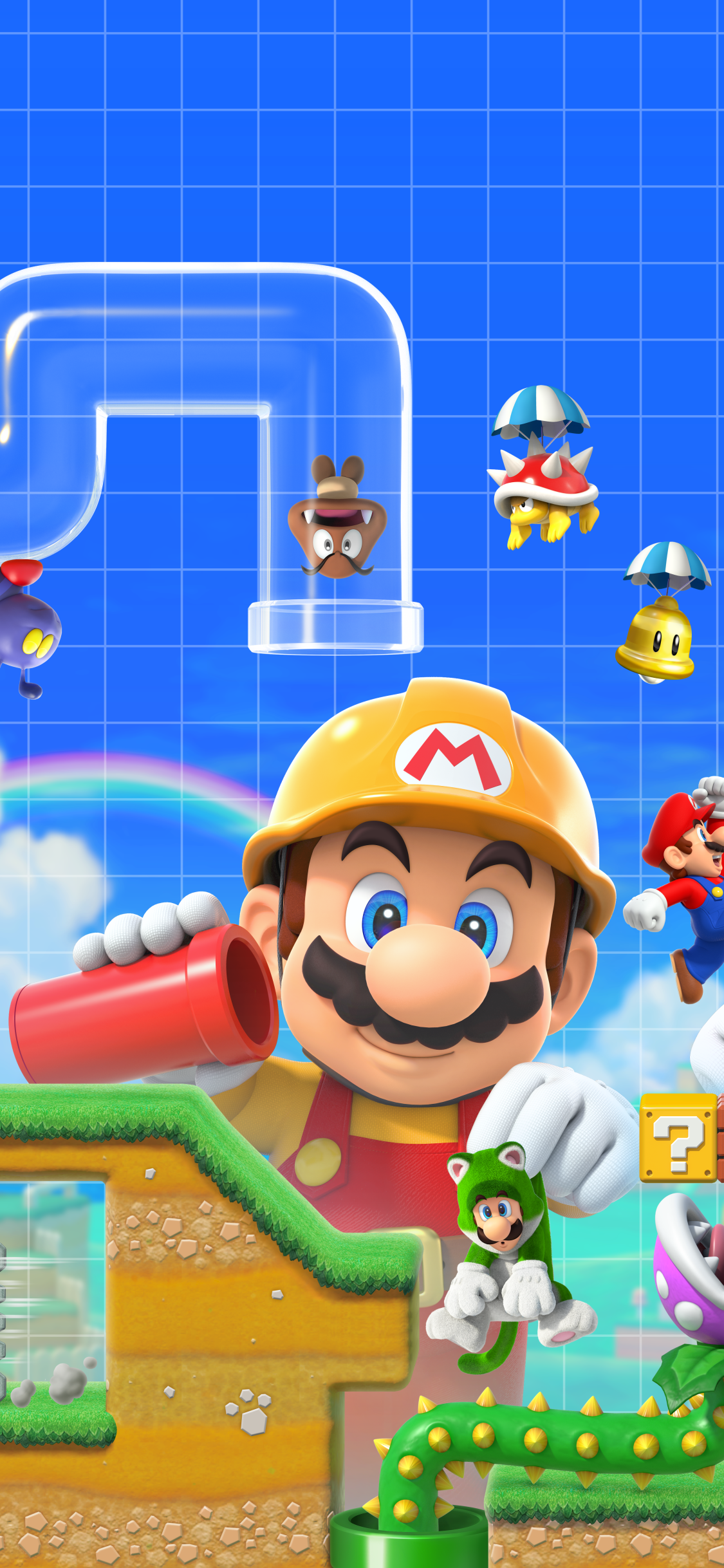 Video Game Super Mario Maker 2 1125x2436 Wallpaper Id 777777