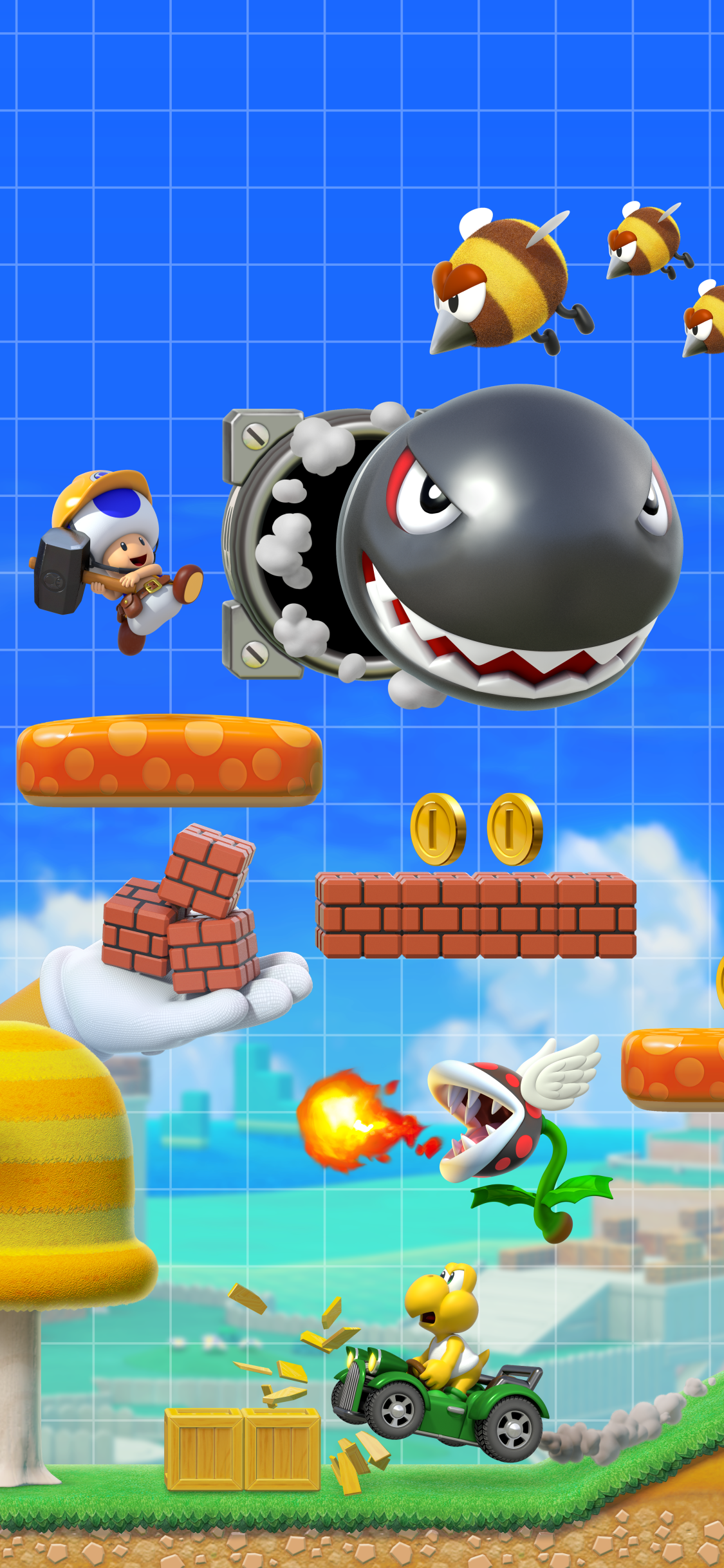 Video Game Super Mario Maker 2 1125x2436 Wallpaper Id 777799