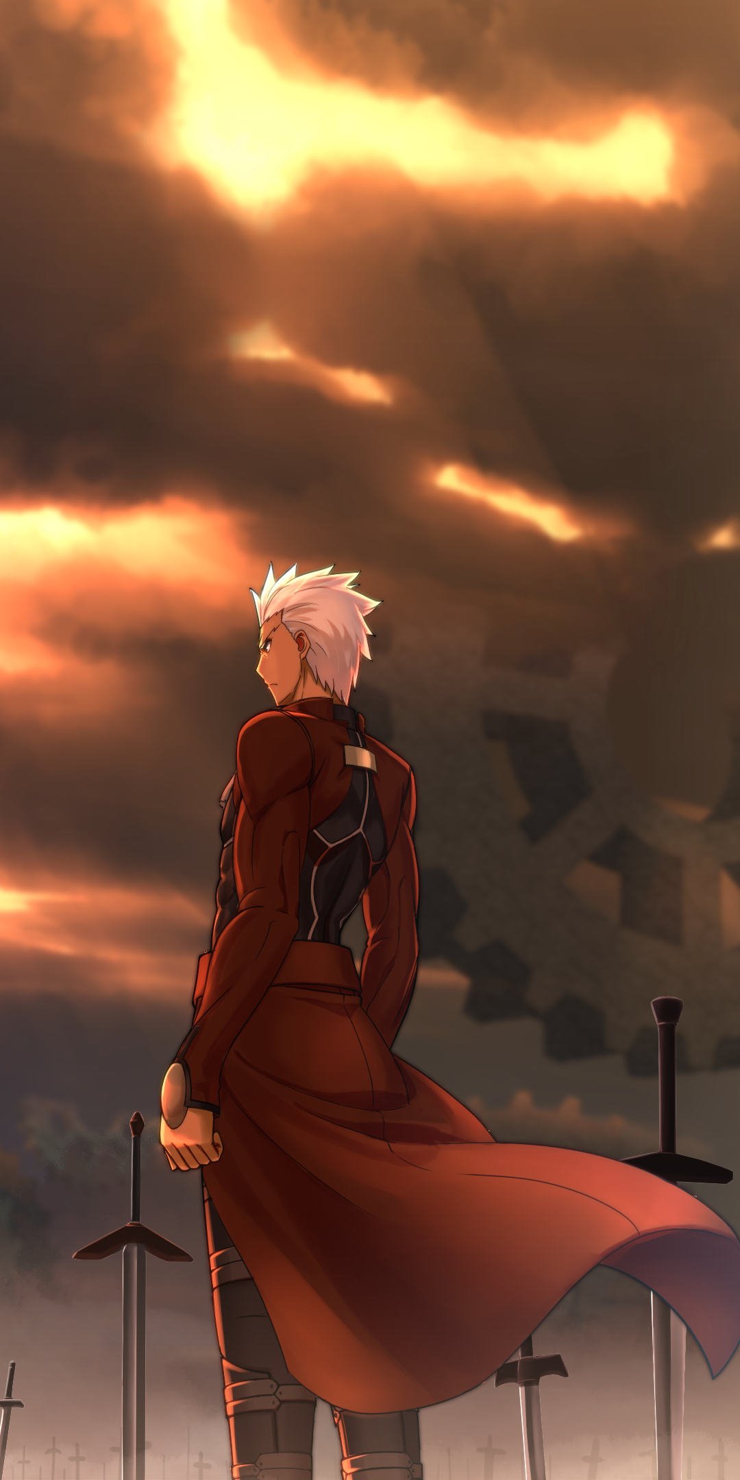 Anime Fate Stay Night Unlimited Blade Works 1080x2160 Wallpaper