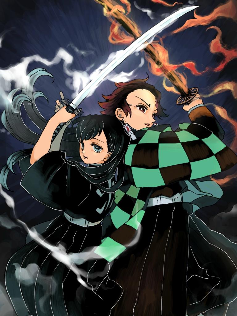 Anime Demon Slayer Kimetsu No Yaiba 768x1024 Wallpaper Id