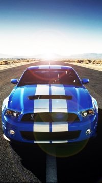 12 Ford Mustang Shelby Gt500 Apple IPhone 5 640x1136 Wallpapers