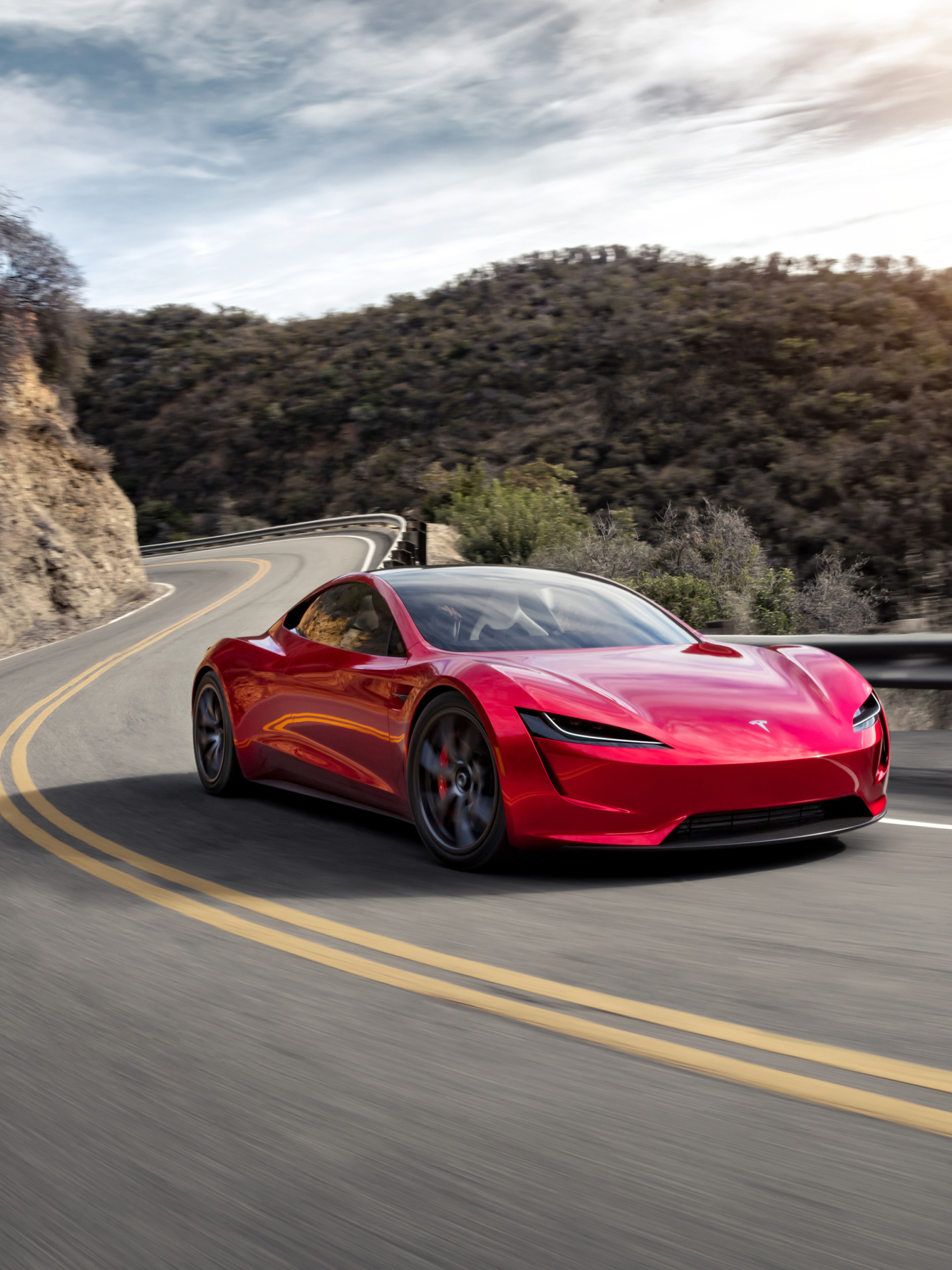 Supercars Gallery Tesla Roadster Wallpaper