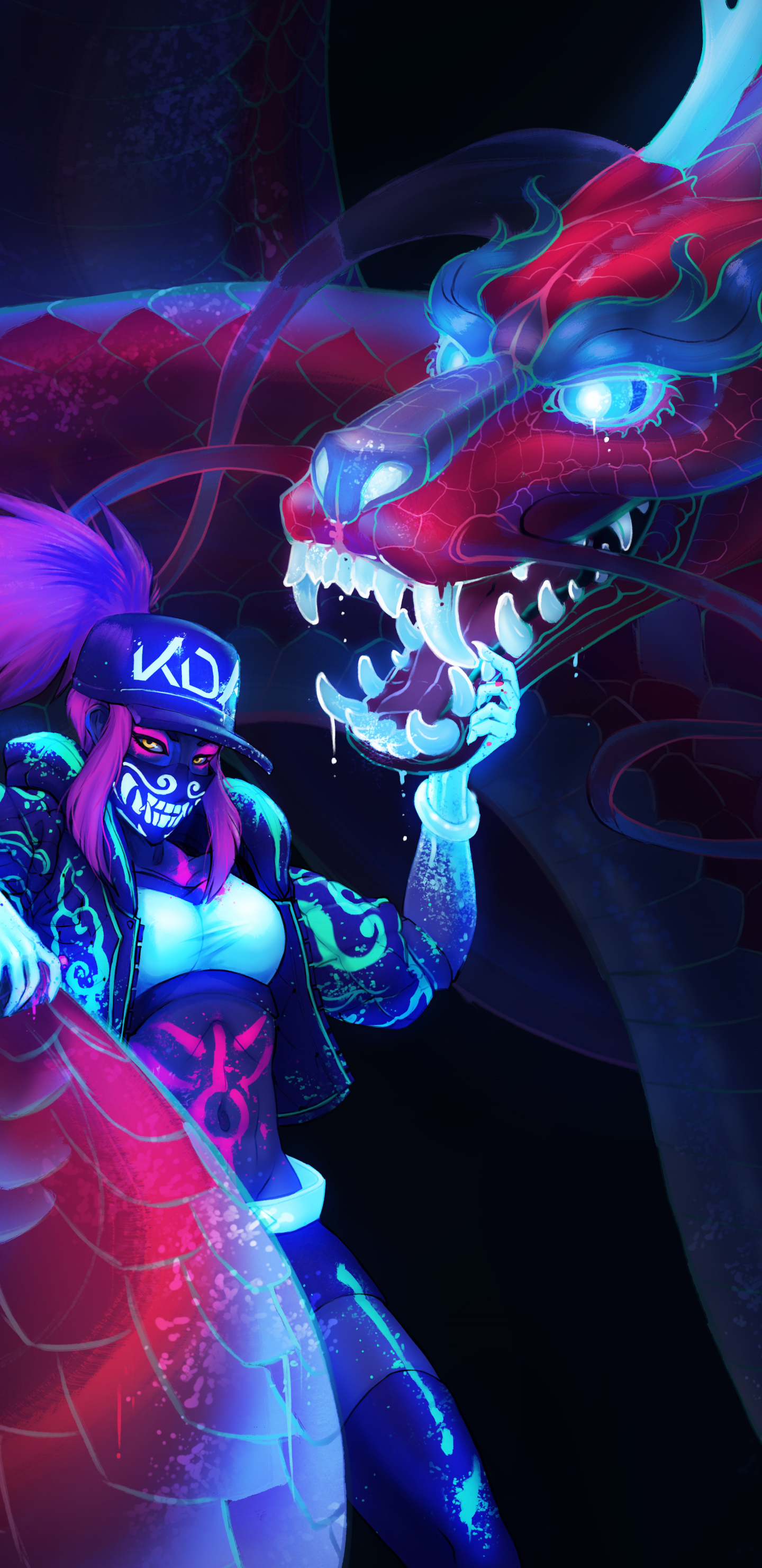 Video Game Akali League Of Legends 1440x2960 Wallpaper Id