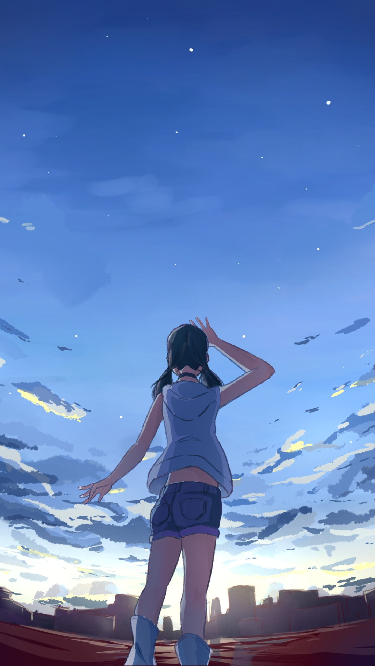 Anime Weathering With You 1440x2560 Wallpaper Id Mobile Abyss