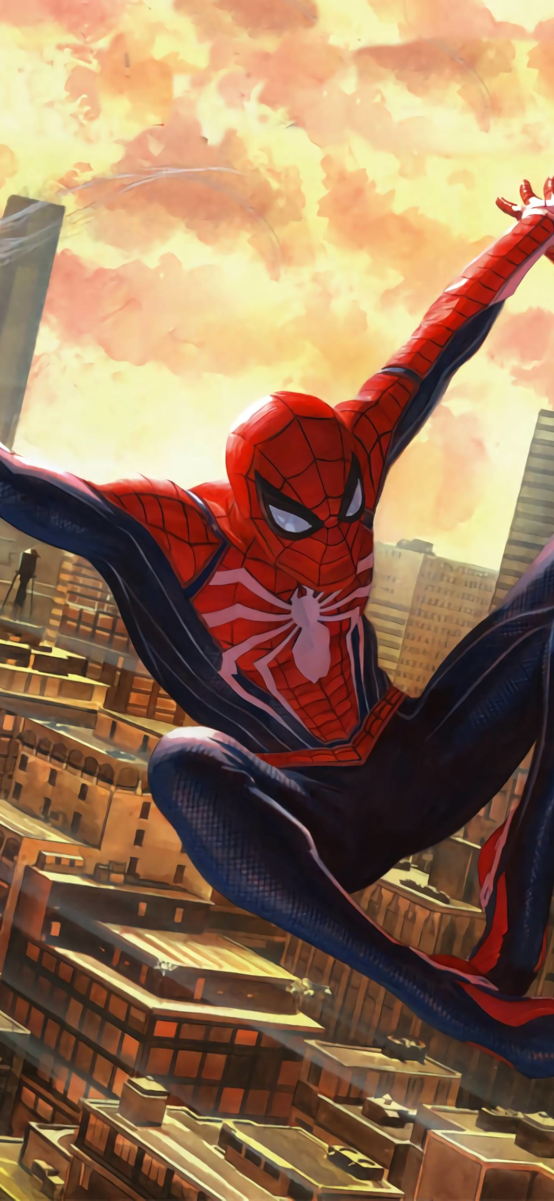 Video Game Spider Man Ps4 1125x2436 Wallpaper Id 824817