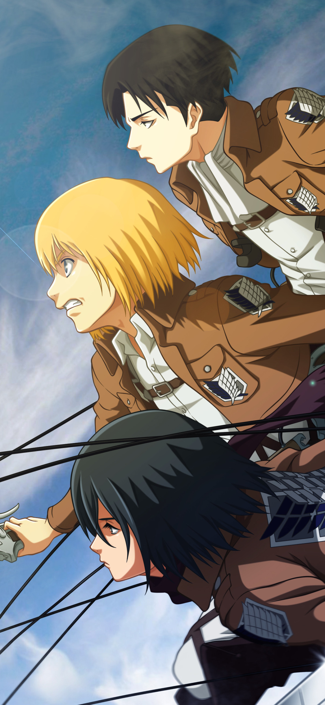 Anime Attack On Titan 1125x2436 Wallpaper Id 850779 Mobile Abyss