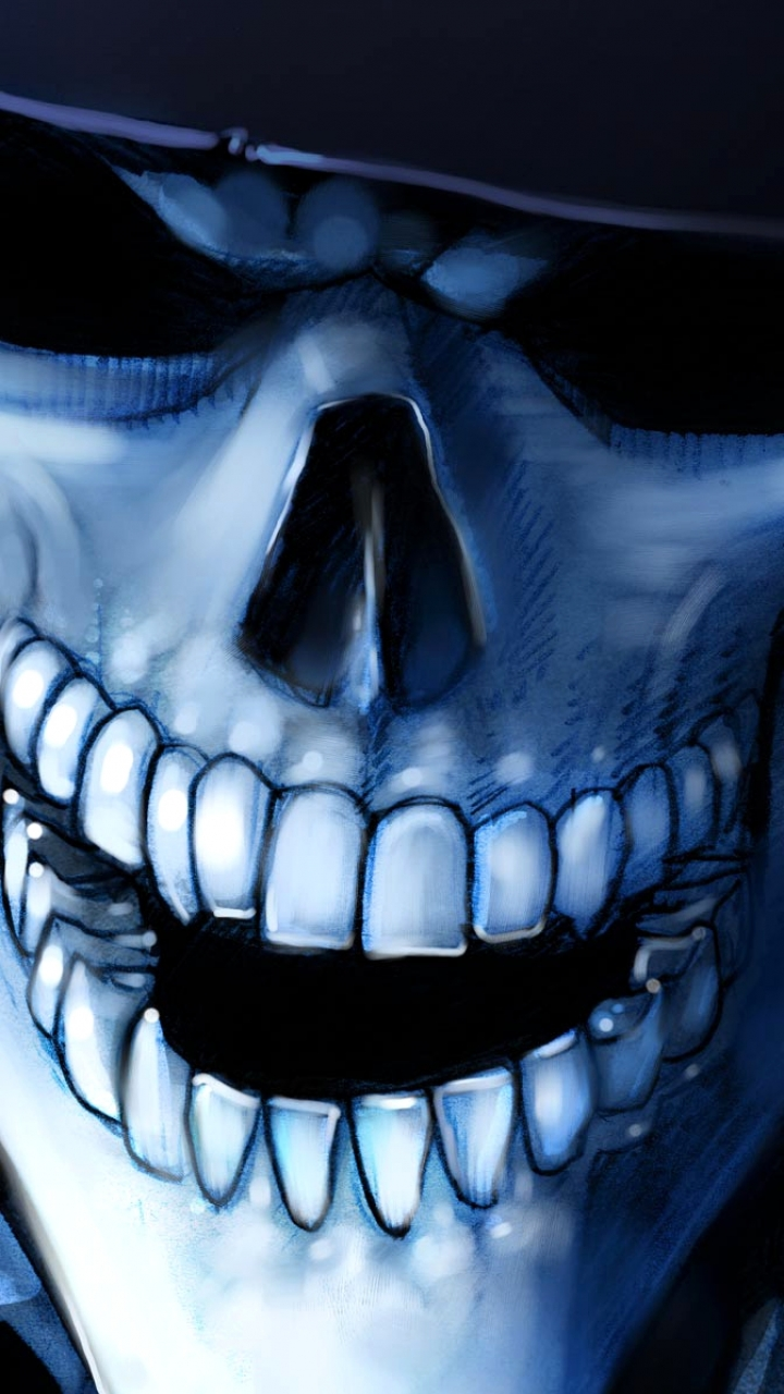 Dark Skull 720x1280 Mobile Wallpaper